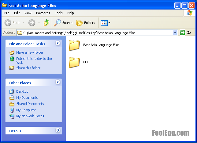 Files necessary to install east asian languages