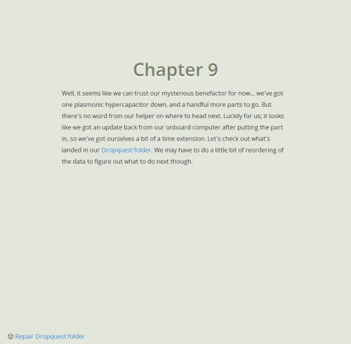 Dropbox - Dropquest 2012 Chapter 9