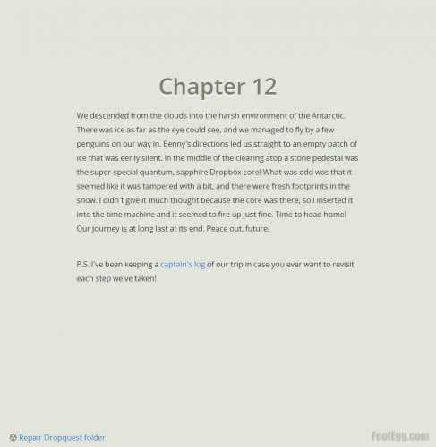 Dropbox - Dropquest 2012 Chapter 12