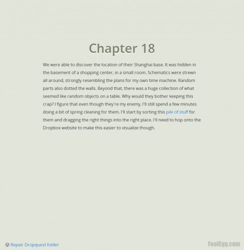 Dropbox - Dropquest 2012 Chapter 18