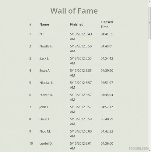 Dropbox - Dropquest 2012 Wall of Fame