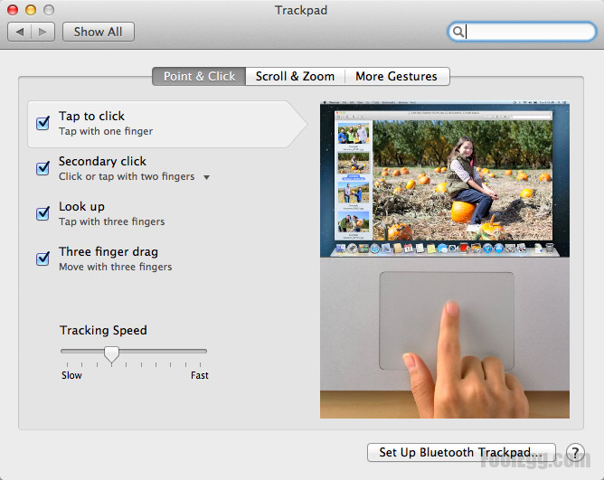 Trackpad Control Panel - Tap to click